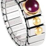 Nomination Damen-Ring Klein Sowie 1 Halb in Rubin Ring größe variabel 040102/010 B002TN8FMG