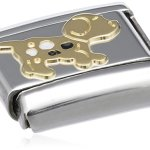 Nomination Composable Classic TIERE – LAND Edelstahl, Email und 18K-Gold (Hund) 030212 B003HETUI4