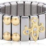 Nomination Damen-Ring Mittel Mit Lilie Ring größe variabel 040220/007 B0050C8XM0