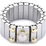 Nomination Damen-Ring Mittel Mit 1 in Perle Weiß Ring größe variabel 040120/013 B0050C8SO8