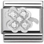 Nomination Classic Silver Shine Kleeblatt B00DSD7YRS