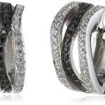 Viventy Damen-Creolen 925 Sterling Silber mit 64 Zirkonia in weiss und 32 Zirkonia in schwarz 763174 B00F85O0BC