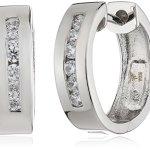 Celesta – Damenklappcreole aus 925er Sterling Silber und 12 weißen Zirkonias 360210141L B003CRC8SK