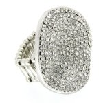 Sweet Deluxe Damen-Ring Messing Aada silber/crystal 02173 B00ENGL10A