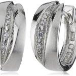 Viventy Damen-Creolen 925 Sterling Silber mit 8 Zirkonia in weiss 763294 B00F85OV6G