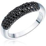 RAFAELA DONATA 925/- Sterling Silber rhodiniert Ring mit Zirkonia schwarz B002SG7GCO