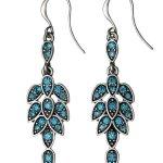 Pilgrim Jewelry Damen-Ohrhänger Messing aus der Serie versilbert,türkis 5.3 cm 261326253 B00CMO47LU