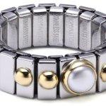 Nomination Damen-Ring Klein Mit 1 in Perle Weiß Ring größe variabel 040101/013 B002TN39E0