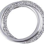 Goldmaid Damen-Anhänger 14 Karat 585 Weißgold Ring 28 Diamanten 0,19 ct. Pa A6216WG B00DHB91ZO