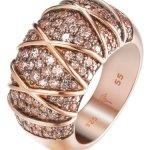 Joop Damen-Ring 925 Sterling Silber Zirkonia Mosaics rosa JPRG90724C B00OJYG0NY