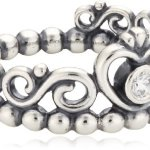 Pandora Damen-Ring 925 Sterling Silber Zirkonia weiß 190880CZ B00BG3UBYU