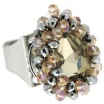 Sweet Deluxe Damen-Ring Agata silber/champagner 00923 B007FD2A3A