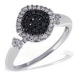 Goldmaid Damen-Ring 585 Weißgold 23 weisse 28 schwarze Diamanten Pavee Pa R4390WG B003ZF85W2