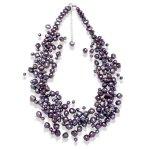 Valero Pearls Fashion Collection Damen-Kette Hochwertige Süßwasser-Zuchtperlen in ca.  4-6 mm Barock blau 925 Sterling Silber    42 cm + 5 cm Verlängerung   120314 B002OL2I3U