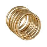 "SIX ""White Summer"" breiter, gedrehter Ring aus goldenem Metall (383-301) B00KW9IEC0"