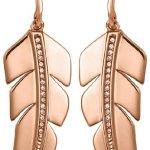 JETTE Magic Passion Damen-Ohrhänger Fancy Feathers Metall 32 Kristalle One Size, rosé B00H7MSZI8