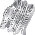 JETTE Silver Damen-Ring Paradise 925er Silber rhodiniert 73 Zirkonia (silber) B00NBDFNNM