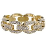 "SIX ""Exclusive"" goldenes Statement Armband mit klaren Glassteinen (382-966) B00KW51YP8"