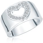 Rafaela Donata Damen-Ring Classic Collection 925 Sterling Silber Zirkonia Herz 60400038 B00EVS0H5U