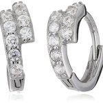 Amor Jewelry Damen-Creolen 925 Sterling Silber rhodiniert Zirkonia weiß 381758 B00LFNDPCQ