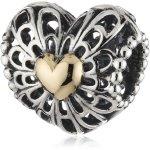 Pandora Charm Vintage Herz offen Limited Edition mit 14-Karat Gold B00JMGK17U