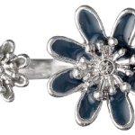 Pilgrim Jewelry Damen-Ring Messing Pilgrim Damen-Ring aus der Serie Flower Rosa versilbert,blau  1.8 cm 241336204 B00ESBVO8O
