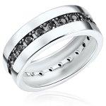Rafaela Donata Ring Sterling Silber Zirkonia schwarz B003OYK7OI