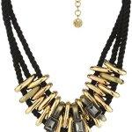 Dyrberg/Kern Damen Halskette Vergoldetes Metall Stoff Glaskristall 336079 B00LFIKT9I