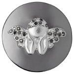 Pilgrim Jewelry Damen-Anhänger Messing Kristall Coin 3.0 cm grau 441343101 B00G2A2HSU