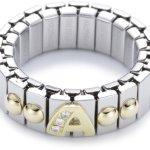 Nomination Damen-Ring Klein Mit Buchstaben A Ring größe variabel 040224/001 B0050C8YHE