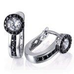 Goldmaid Damen-Ohrhänger 925 Sterling Silber Black Eye 2 weiße und 36 schwarze Zirkonia Pa O6217S B00COZH1EW