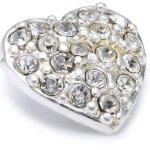 Pilgrim Damen-Snap Druckknopf versilbert kristall 43114-0005 B007H9CQ4U