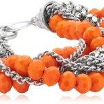 Sweet Deluxe Damen-Armband Jasmine silber/orange 19 cm 00385 B006GY0PHM