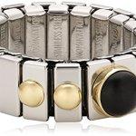 Nomination Damen-Ring Klein Mit 1 in Achat Schwarz Ring größe variabel 040101/002 B002TN8FJO