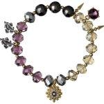 Pilgrim Jewelry Damen-Armband Messing Pilgrim Damen-Armband aus der Serie Russian loving vergoldet,lila 17.0 cm 231332302 B00ESBBE16