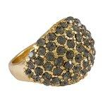 """SIX """"Glory Nights"""" goldener Ring mit vielen, grauen Strasssteinen (392-994) B00P9FZGCS"""
