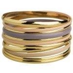 """SIX """"Touch of Nude"""" 11er Set goldene und nude lila beschichtete Armreifen (358-459) B00JMEM3SM"""