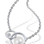 goldmaid Damen-Halskette Kreise 375 Weißgold 1 Süßwasser-Zuchtperle 45 cm Pe C5067WG B00A6NJIQI