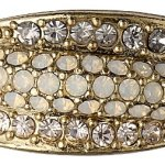 Pilgrim Jewelry Damen-Ring Messing Pilgrim Damen-Ring aus der Serie Classic vergoldet,grau  1.0 cm 601332144 B00ESBVVFK