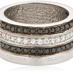 Celesta Damen-Ring 925 Sterlingsilber Zirkonia schwarz und weiß Gr. 60 (19.1) 273270753060 B004P7JDT8