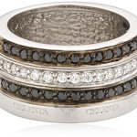 Celesta Damen-Ring 925 Sterlingsilber Zirkonia schwarz und weiß Gr. 54 (17.2) 273270753054 B004P7JD70
