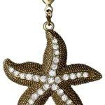 Pilgrim Jewelry Damen-Anhänger Messing aus der Serie Mega vergoldet,weiß 6 cm 411322007 B00CMOLSO4
