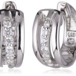 Viventy Damen-Creolen 925 Sterling Silber mit 12 Zirkonia in weiss 763234 B00F85OBKW