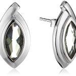 Celesta Damen-Ohrstecker 925 Sterling Silber Glaskristall grau 360220377-3L B008MU675W