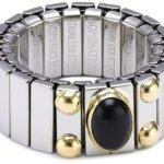Nomination Damen-Ring Mittel Mit 1 in Achat Schwarz Ring größe variabel 040120/002 B002TN1GCC