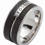 Fossil Herren-Ring Edelstahl PU schwarz ionisiert Gr.18 JF86390040 B005MI111C