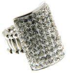 Sweet Deluxe Damen-Ring Messing sweet deluxe Damen Strechring Barock 6 silber/cream/crystal 02766 Gr. 2766 B00EDL3WRK
