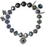 Pilgrim Jewelry Damen-Armband Messing Pilgrim Damen-Armband aus der Serie Russian loving versilbert,blau 17.0 cm 231336202 B00ESBBI9E