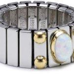 Nomination Damen-Ring Mittel Mit 1 in Opal Weiß Ring größe variabel 040120/007 B002TN78KG
