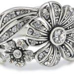 Pilgrim Jewelry Damen-Ring aus der Serie Desert flower versilbert kristall verstellbar 1.6 cm 121235004 B008RTU01U